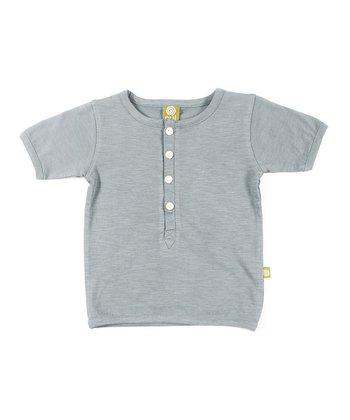 Teal Organic Henley - Infant, Toddler & Kids
