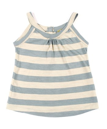 Teal Stripe Organic Kat Tank - Infant