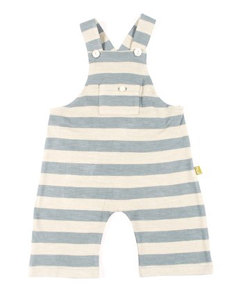 Teal Stripe Organic Mundell Overalls - Infant & Toddler