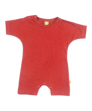 Rust Organic Playhut Playsuit - Infant
