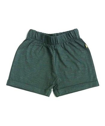 Teal Organic Rangie Shorts - Infant & Toddler