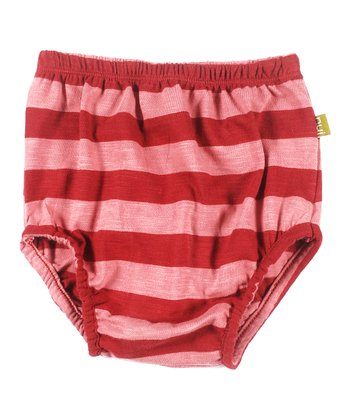 Rust Stripe Organic Annie Bloomers - Infant