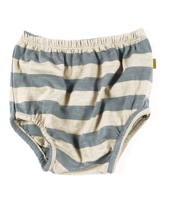 Teal Stripe Organic Annie Bloomers - Infant