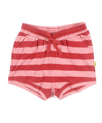 Rust Stripe Organic Vikki Shorts - Infant