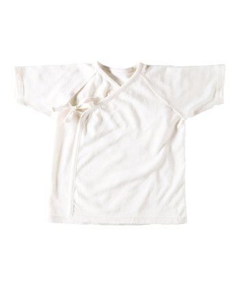 White Organic Wrap Top - Infant, Toddler & Kids
