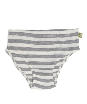 Silver Stripe Merino Organic Underwear - Toddler & Girls