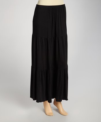 Black Maxi Skirt - Women