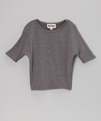 Gray Dolman Top - Toddler & Girls