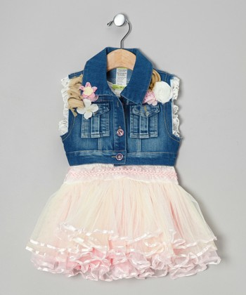Pink Vogue Tutu Dress & Denim Vest - Toddler & Girls