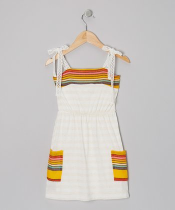 Ivory & Rainbow Margarita Dress - Girls
