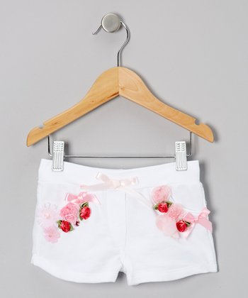 White Ever-After Fairy Shorts - Girls