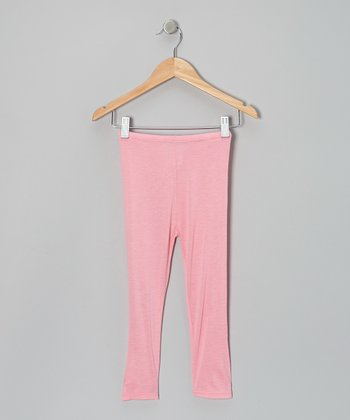 Pink Peche Capri Leggings - Toddler & Girls