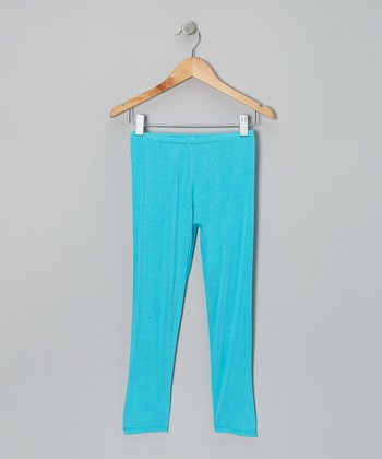 Aqua Peche Capri Leggings - Toddler & Girls