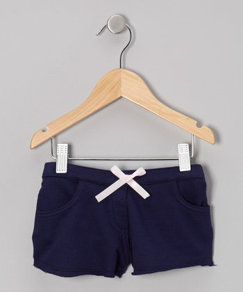 Navy Ever-After Terry Shorts - Infant, Toddler & Girls