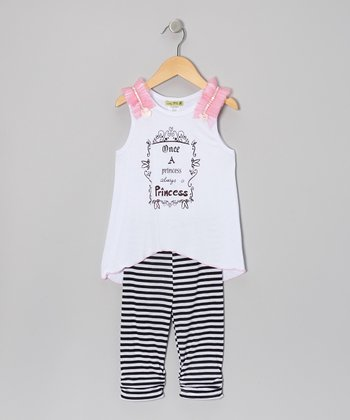 Navy Stripe Ever-After Tunic & Leggings - Infant & Toddler