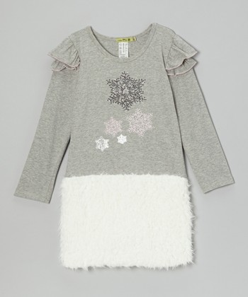 Gray Paris Star Dress - Toddler & Girls