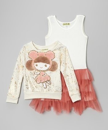 Oatmeal & Rose Tutu Dress - Toddler & Girls