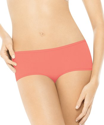 But…Naked Boyshorts - Coral Rose