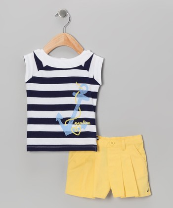 Medium Navy Anchor Top & Shorts - Infant
