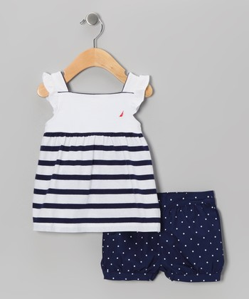 Medium Navy Stripe Tunic & Shorts - Infant & Toddler