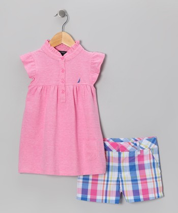 Pink Flutter Tunic & Shorts - Infant, Toddler & Girls