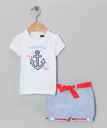 White Anchor Tee & Shorts - Infant & Toddler