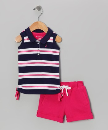 Navy Stripe Top & Shorts - Infant