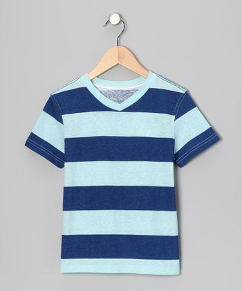 Light Blue Stripe Tee - Boys