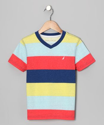 Light Red Stripe Tee - Boys