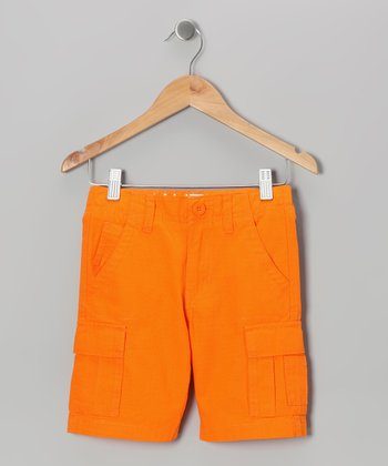 Orange Cargo Shorts - Boys