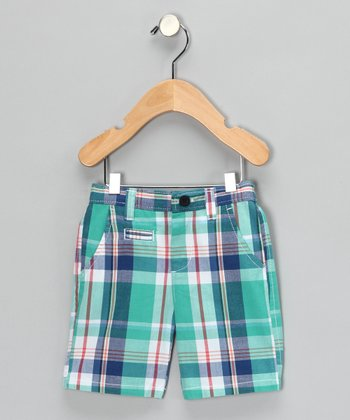 Kingfisher Plaid Shorts - Boys