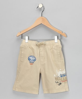 Worn Khaki 'Nautica' Shorts - Boys