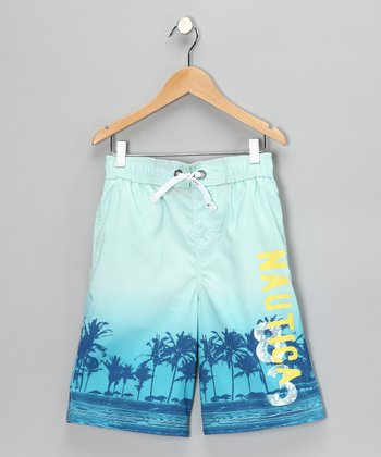 Light Blue Swim Trunks - Boys