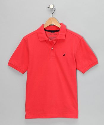 Light Red Polo - Boys