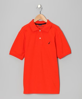 Tomato Solid Polo - Boys