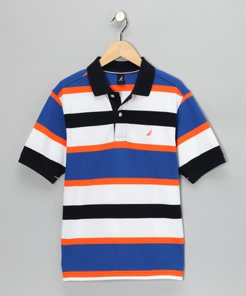 Neon Fish Stripe Polo - Boys