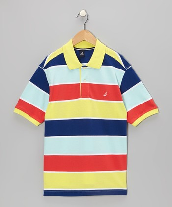 Vitamin C Stripe Polo - Boys
