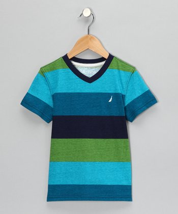 Teal Stripe Tee - Boys