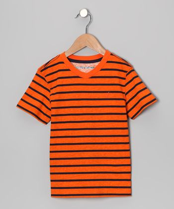 Orange Stripe Tee - Boys