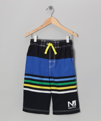 Sport Navy Swim Trunks - Boys