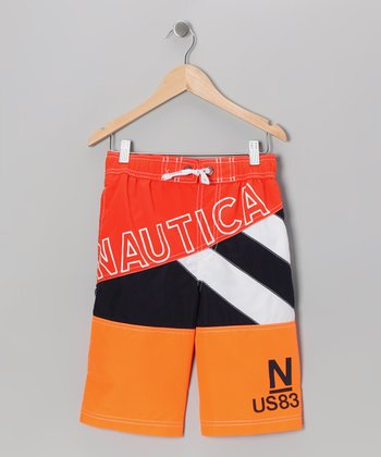 Neon Fish Swim Trunks - Boys