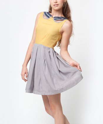 Navy & Mustard Isabel Dress