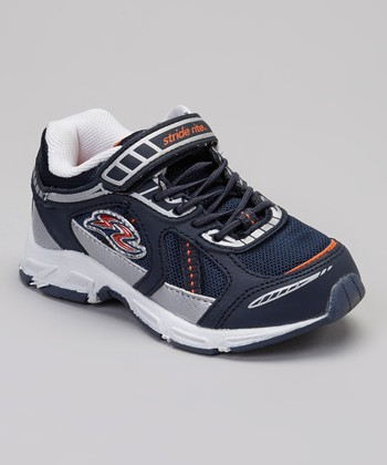 Navy & Orange Bruce Sneaker