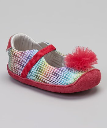 Rainbow Crawl Mini Buffy Sequin Flat