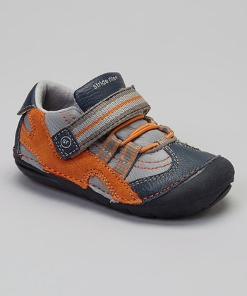 Navy & Orange Stripe SRT SM Leo Shoe