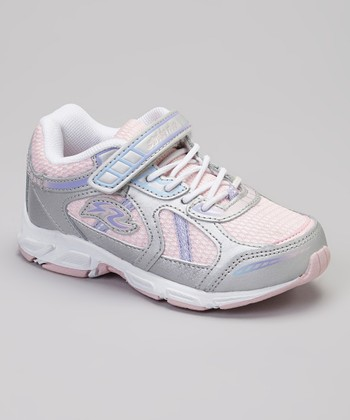 Silver & Light Pink Sadi Sneaker