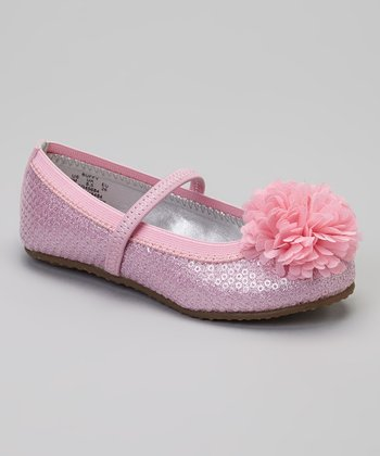 Light Pink Buffy Sequin Flat