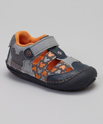 Gray & Orange SRT SM Mickey Mouse Closed-Toe Sandal
