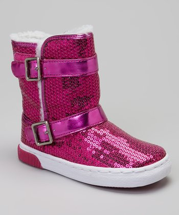 Hot Pink Sequin Safi Boot