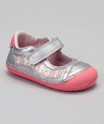 Pink & Blue Zigzag Sequin SRT SM Dream Queen Mary Jane
